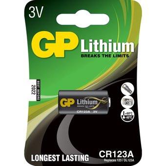 GP photo Batterie 123A 3V