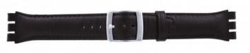 Bracelet de montre adaptée pour Swatch brun foncé WP-51643-19mm
