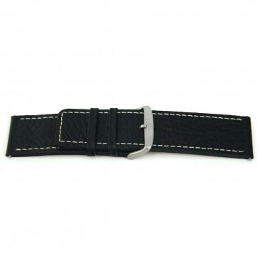 Bracelet de montre en cuir noir 26mm EX-H79