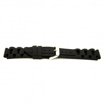 Bracelet de montre En caoutchouc 24mm Noir EX K63 26 1 24