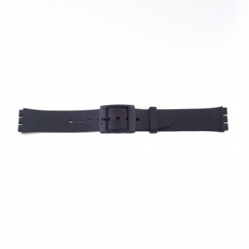 Swatch (remplacent) bracelet de montre PVK P51 En caoutchouc Noir 17mm