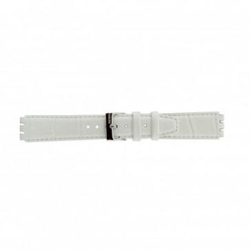 Bracelet de montre pour swatch en cuir blanc 17mm 21414