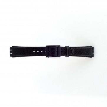 Bracelet de montre pour swatch noir 17mm PVK SC04.01