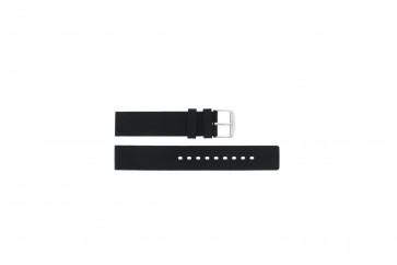 Bracelet de montre 6826 Silicone Noir 20mm