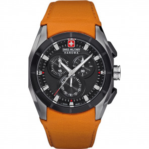 Bracelet de montre Swiss Military Hanowa 06-4191.33.007.79 Cuir Orange