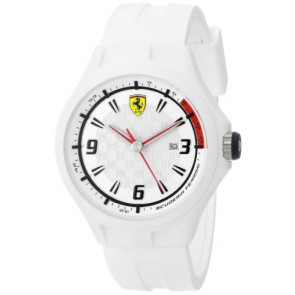 Ferrari bracelet de montre SF101.1 / 0830003 / SF689309000 / Scuderia Caoutchouc Blanc 22mm