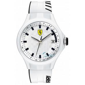 Ferrari bracelet de montre SF101.6 / 0830124 / SF689300071 / Scuderia Silicone Blanc 22mm