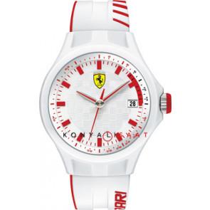 Ferrari bracelet de montre SF101.6 / 0830127 / SF689300079 / Scuderia Caoutchouc Blanc 22mm