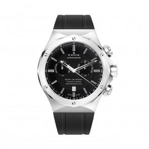 Edox bracelet de montre 10107-RUB Caoutchouc Noir