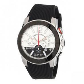 Esprit bracelet de montre ES101681006 Caoutchouc Noir 22mm