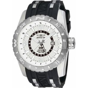 Bracelet de montre Invicta 10681.01 Caoutchouc Noir