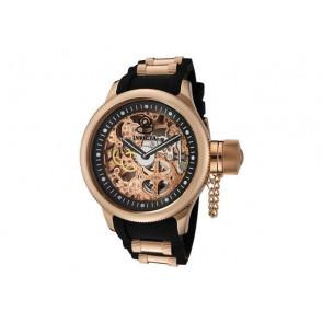 Bracelet de montre Invicta 1090.01 Caoutchouc Noir