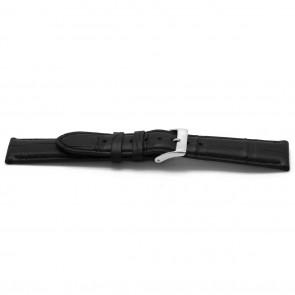 Bracelet de montre Alligator cuir noir 22mm EX-H134