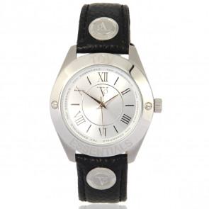 TOV Essentials bracelet de montre 1455 / TOV Cuir Noir 18mm + coutures noires