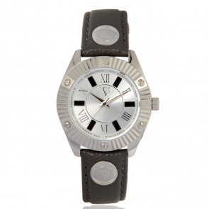 TOV Essentials bracelet de montre 1460 / TOV Cuir Gris 18mm + coutures grises