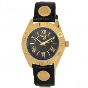TOV Essentials bracelet de montre 1461 / TOV Cuir Noir 18mm + coutures noires