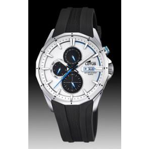 Lotus bracelet de montre 18320/1 Silicone Noir