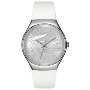 Lacoste bracelet de montre 2000785 / LC-71-3-14-2444 Silicone Blanc 18mm