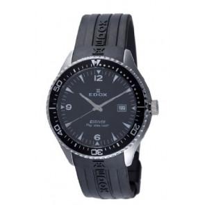 Edox bracelet de montre 267961 / 70158 Caoutchouc Noir