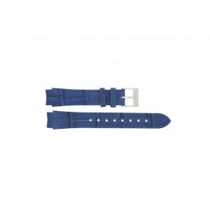 Prisma bracelet de montre 33 832 117 Cuir Bleu 14mm + coutures  bleues