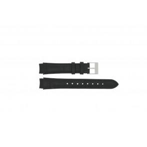 Prisma bracelet de montre 33 832 117 Cuir Noir 14mm + coutures noires