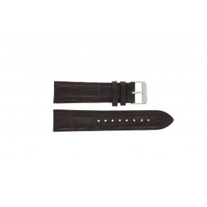 Prisma bracelet de montre 33C631012 Cuir Brun 22mm + coutures brunes