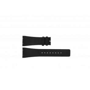 Boccia bracelet de montre 3541-02 Cuir Noir 20mm
