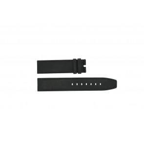 Boccia bracelet de montre 3780-01 Cuir Noir 20mm + coutures défaut