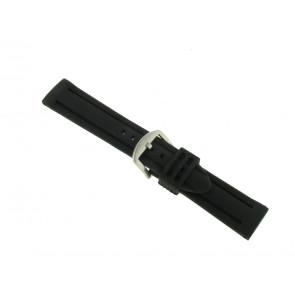 Bracelet de montre En caoutchouc 20mm Noir PVK SL105