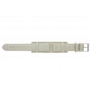 Bracelet de montre 61325.12.20 Cuir Beige 20mm + coutures de beige