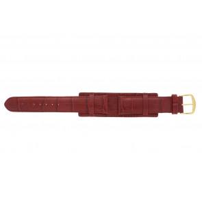 Bracelet de montre 61325.45.20 Cuir Rouge 20mm + coutures  rouges