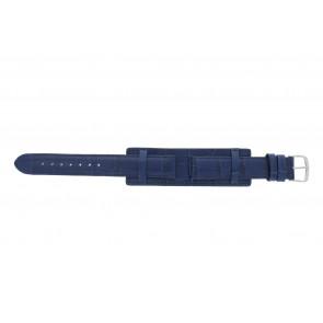 Bracelet de montre 61325.55.16 Cuir Bleu 16mm + coutures  bleues