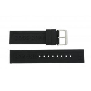 Hugo Boss bracelet de montre 659302252 / HB.116.1.29.2267 / 1512543 Caoutchouc Noir 22mm