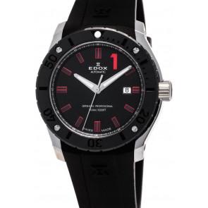 Bracelet de montre Edox 80088 Caoutchouc Noir