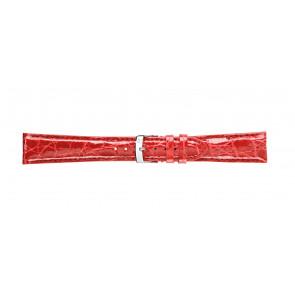 Morellato bracelet de montre Amadeus G.Croc Glans U0518052083CR22 / PMU083AMADEC22 Peau de crocodile Rouge 22mm + coutures défaut