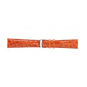 Morellato bracelet de montre Amadeus G.Croc Glans U0518052086CR22 / PMU086AMADEC22 Peau de crocodile Orange 22mm + coutures défaut
