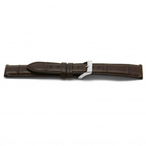 Bracelet de montre Alligator cuir brun 18mm EX-F334