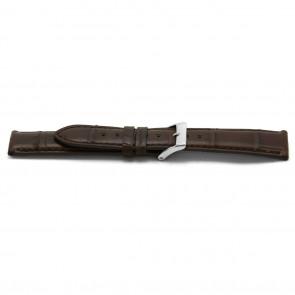 Bracelet de montre Alligator cuir brun 22mm EX-H334