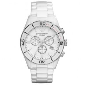 Bracelet de montre Armani AR1424 Céramique Blanc