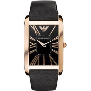 Armani bracelet de montre AR2034 Cuir Noir 23mm