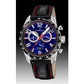 Candino bracelet de montre C4429-2 Cuir Noir + coutures  rouges