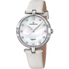 Bracelet de montre Candino C4601 Cuir Blanc