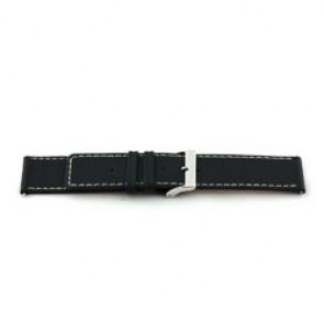 Bracelet de montre en cuir noir 38mm EX-J43
