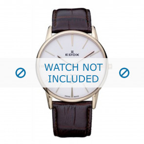 Edox bracelet de montre 26023-37R-BR Cuir Brun 22mm + coutures défaut
