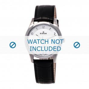 Edox bracelet de montre 70170-3-AIN-WRC Cuir Noir 21mm + coutures défaut