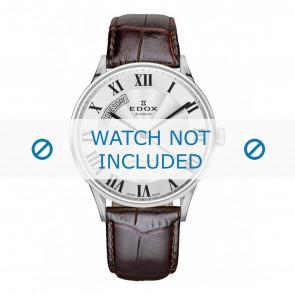 Edox bracelet de montre 83010-3B-AR Cuir Brun foncé + coutures défaut