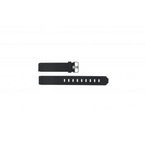 Jacob Jensen bracelet de montre 750 Shine / 755 / 756 / 757 / 760 Caoutchouc Noir 17mm