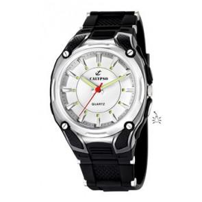 Bracelet de montre Calypso K5560-1 Caoutchouc Noir