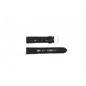 Lorus bracelet de montre 19MM Cuir Noir 19mm + coutures noires