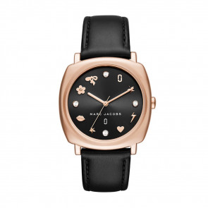 Bracelet de montre Marc by Marc Jacobs MJ1565 Cuir Noir 18mm